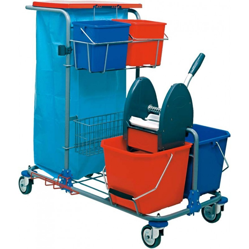 chariot menage lavage rilsan 2 x 15l. Black Bedroom Furniture Sets. Home Design Ideas