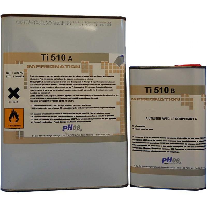 Ti Pro 510 4kg imprégnation hydro-oleophobe marbre et Pierre