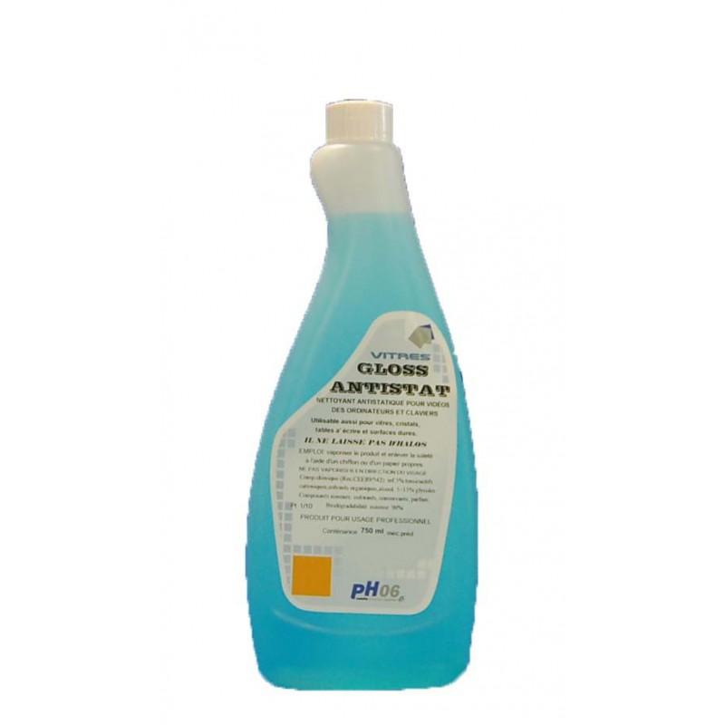 Gloss anti-statique nettoyant anti-statique vitres et surfaces 750 ml
