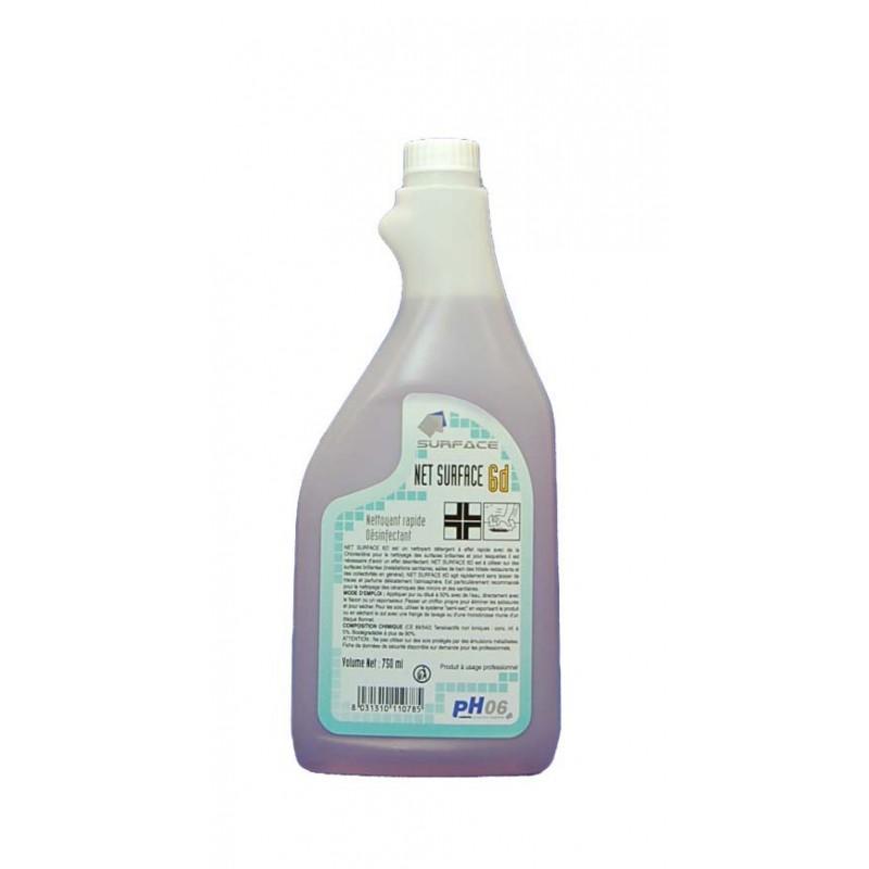 S6D 750ml nettoyant désinfectant multi-surfaces