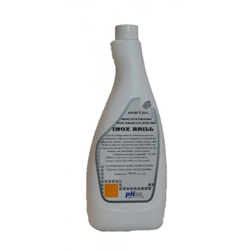 Inox Brill 750ml nettoyant protecteur pour aluminium et l'inox