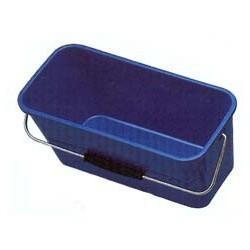 Seau vitre rectangulaire bleu 13L
