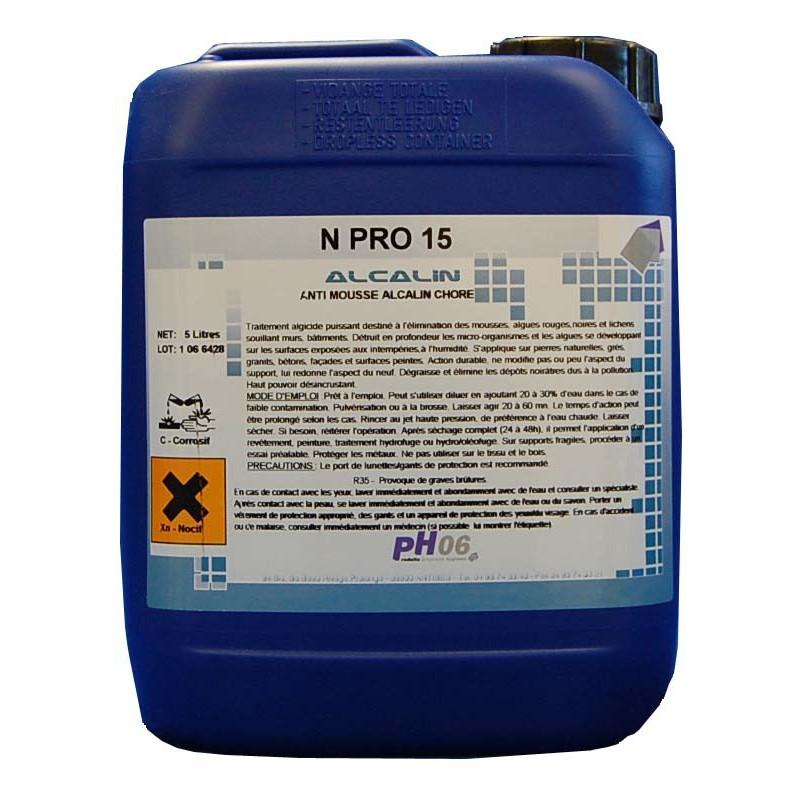 N Pro 15 nettoyant anti mousse 5L