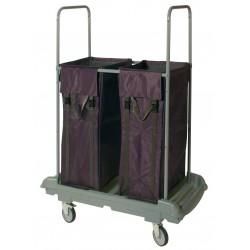 Chariot linge tri plastique-rilsan 2 sacs