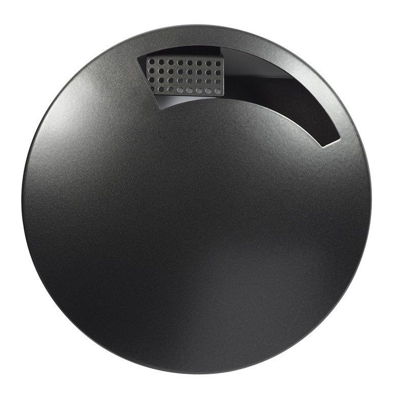 Cendrier mural disco étouffoir gris manganèse 1.5L