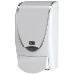 Distributeur savon pour cartouche Deb premium blanc liseré chromé 1L