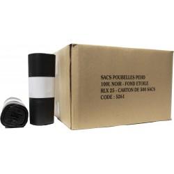 Sacs poubelles 100L SE noir HD (x500)