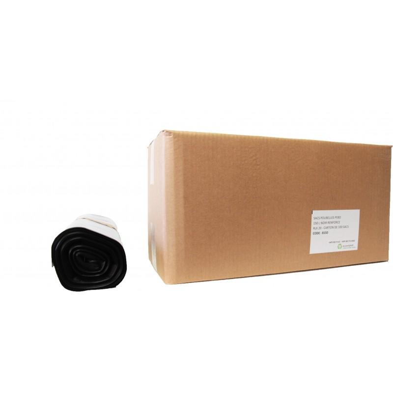 Sacs poubelles 150L noir (x100)