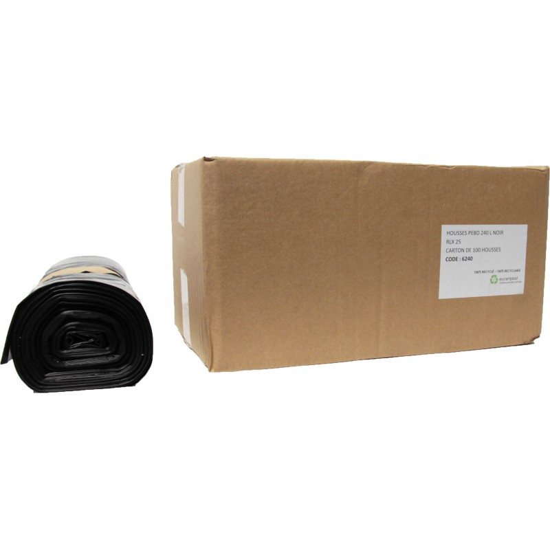 Sacs conteneur 240L noir 30µ (x100)