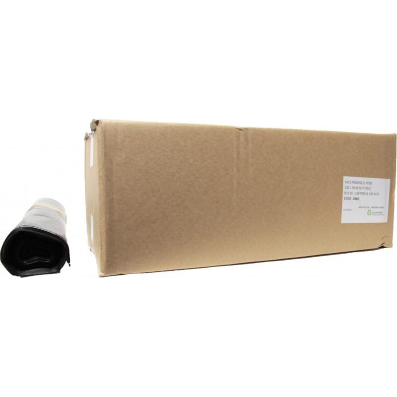 Sacs poubelles 100L noir QS (x200)