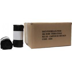 Sacs poubelles 30L noir HD 15µ (x500)
