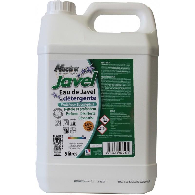 Javel nettoyante parfumée 2.6% de chlore actif 5L