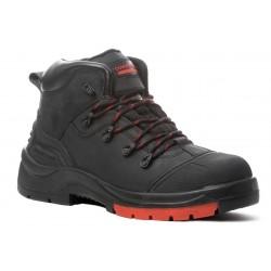 Chaussures de sécurité cuir hydrofuge noire haute hydrocite