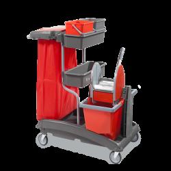 Chariot ménage-lavage plastique-rilsan 2x15L top 6
