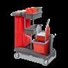 Chariot ménage lavage plastique rilsan2 x 15L idea top 6