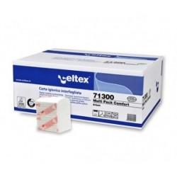 Papier hygiénique plié 250 formats pure ouate 2 plis écolabel 11x18 (x36)