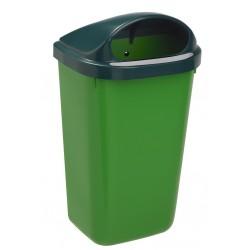 Corbeille extérieur plastique Xerios corps vert-couvercle vert 50L