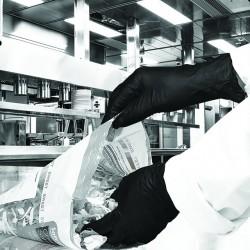 Gants nitrile noir hand safe M (x100)