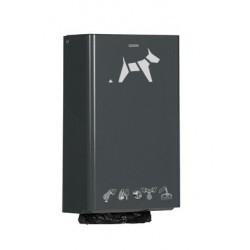 Distributeur sacs pollution canine gris anthracite mat
