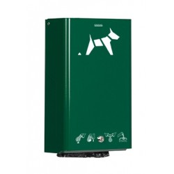 Distributeur sacs pollution canine vert mousse