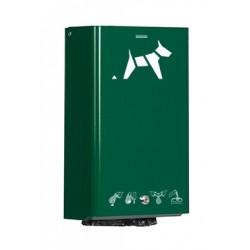 Distributeur sacs pollution canine vert mousse