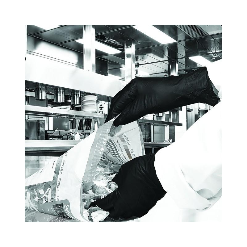 Gants nitrile noir hand safe 8-8 1/2 (x100)