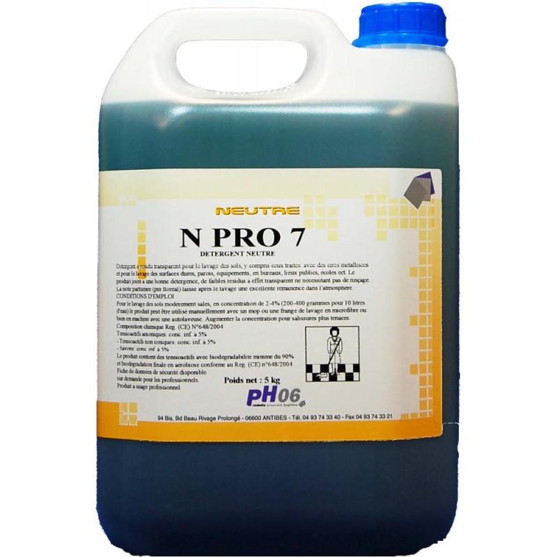 N Pro 7 détergent sols neutre 5L
