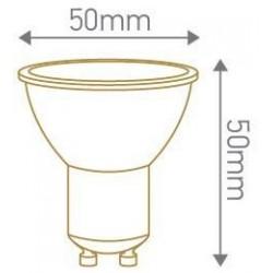 Lampe spot GU10 led 100°  7W 4000k 220v 50mm