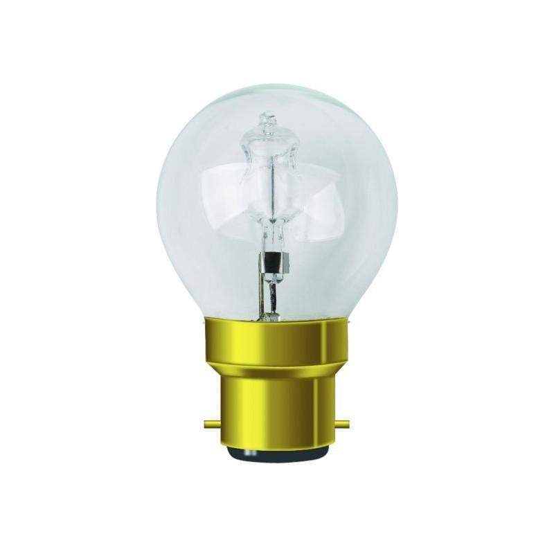 Lampe sphèrique claire halogène b22 30w 240v
