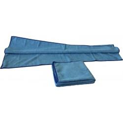 Serpillière microfibre bleue premium 80x40