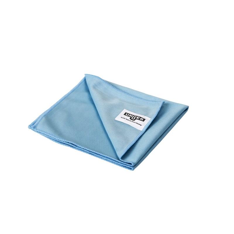 Microfibre microwipe lite bleue tissée spécial vitre Unger 40 x 40