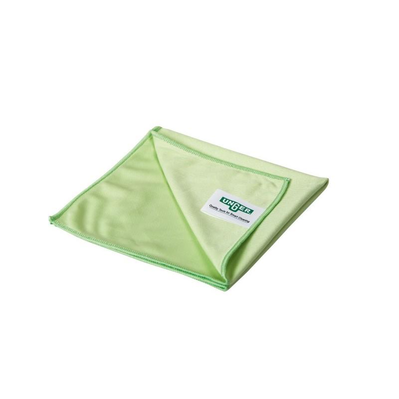 Microfibre microwipe verte tissée spéciale vitre Unger 40 x 40