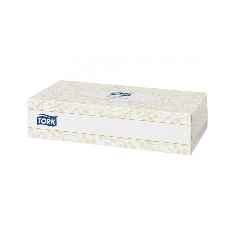 Mouchoirs extra doux blancs 2 plis Tork Boite 100 (x30)