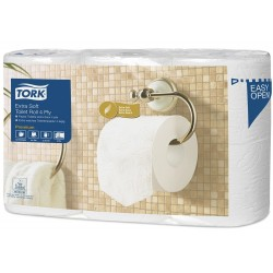 Papier hygiénique pt rouleau extra doux pure ouate Tork 4 plis (x42)
