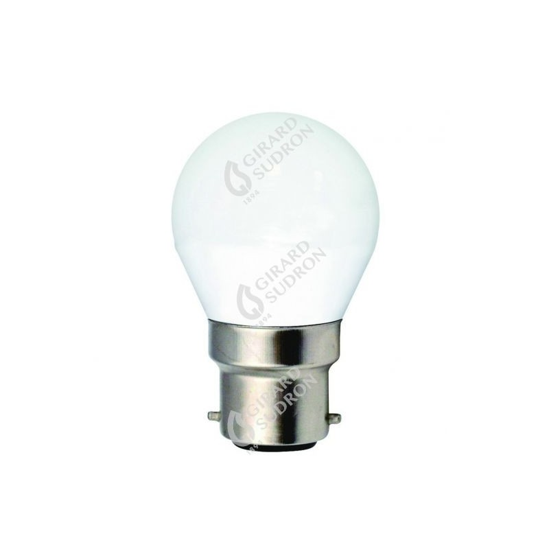 Lampe sphérique led 330° b22 5w 4000k