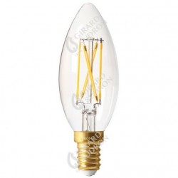 Lampe flamme led filament claire e14 5w 2700k