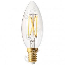 Lampe flamme led filament claire e14 5w 2700k