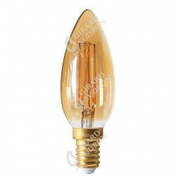 Lampe flamme led filament amber e14 5w 2700k