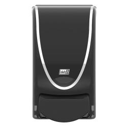 Distributeur noir savon pour cartouche Deb premium blanc liseré chromé 1L