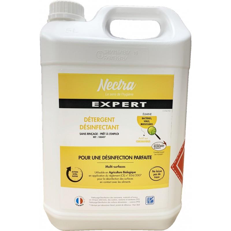 Désinfectant nettoyant virucide sans rinçage 5L
