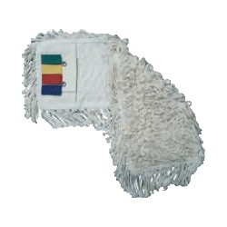 Frange de lavage polyester-coton à poches-languettes 40cm