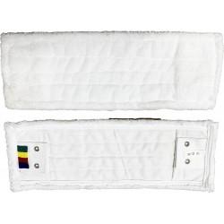 Frange de lavage microfibre blanche poches-languettes 40cm