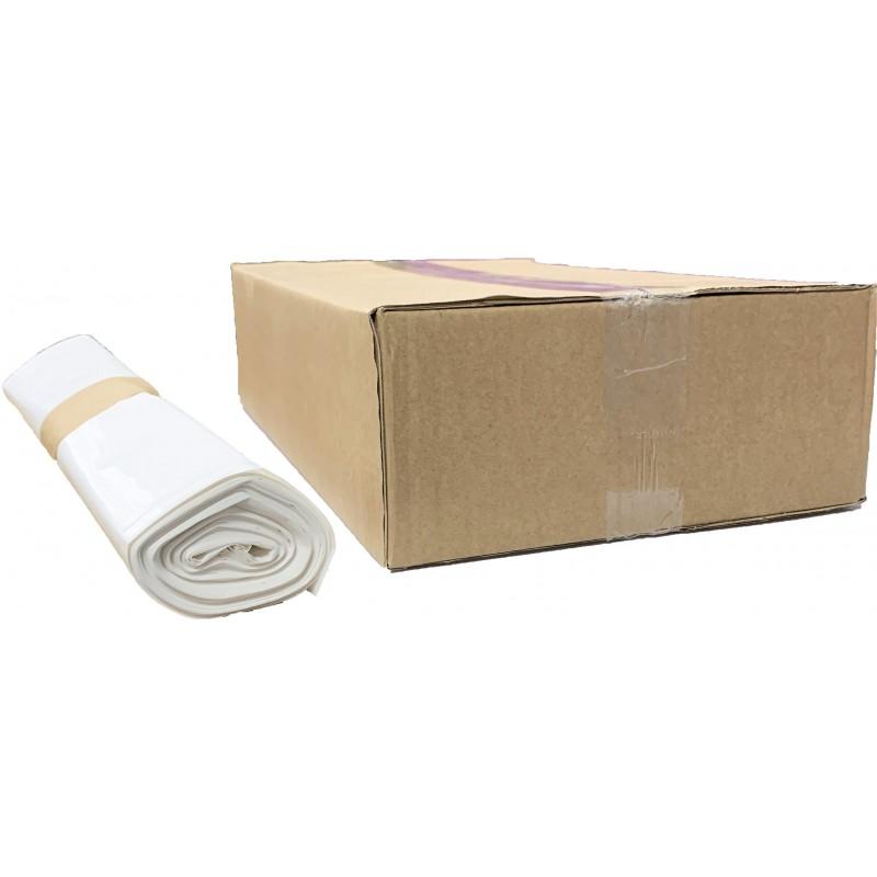 Sacs poubelles 100L blanc 50µ (x200)