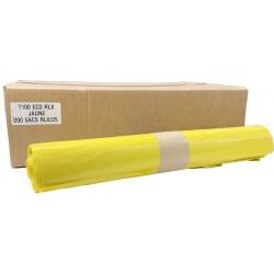 Sacs poubelles 100L jaune (x200)