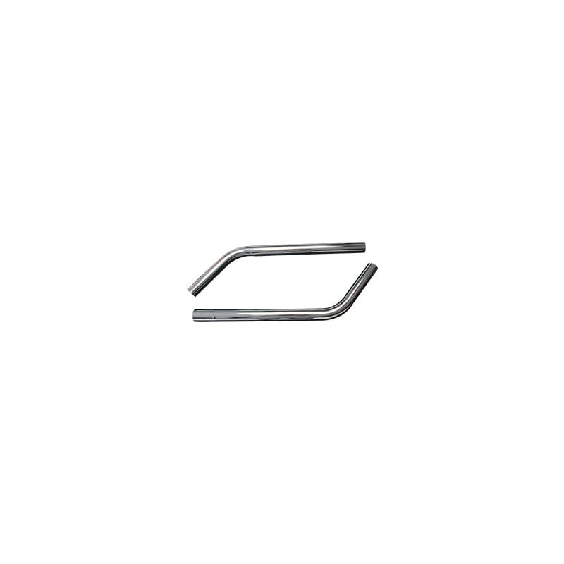 Canne acier chromée double coude diamètre 38mm