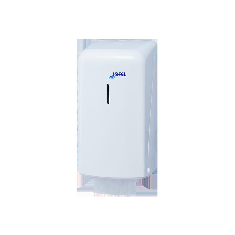 Distributeur rouleau papier hygiénique domestique 200 formats blanc