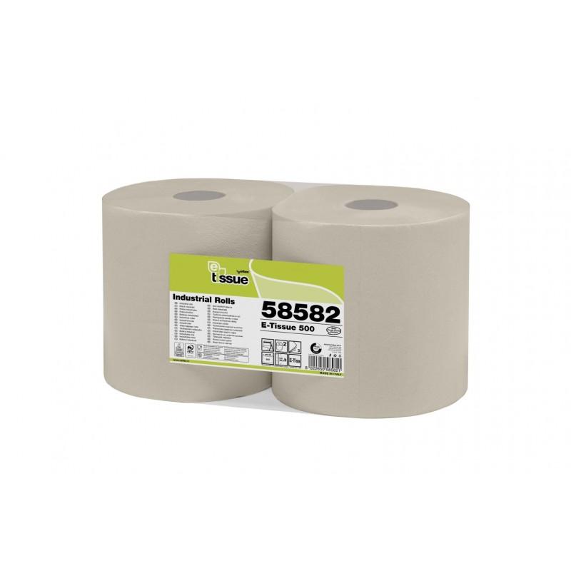 Bobine essuyage 500 formats E-tissue chamois 26.5x34 3 plis (x2)
