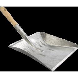 Pelle métal galvanisée manche bois