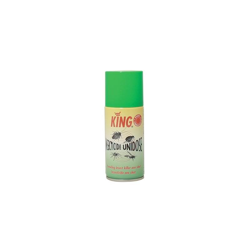 Insecticide unidose volant-rampant auto percutant King aérosol 150ml