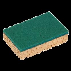 Eponge + tampon abrasif vert PM Spontex